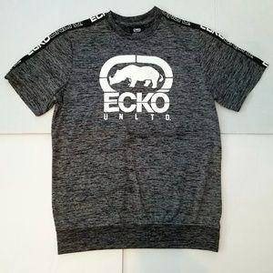 Ecko Unltd Black Gray Men's Graphic Tee